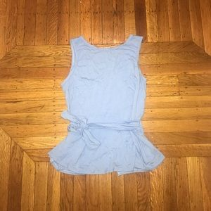 Anthropologie Peplum Tie Tank